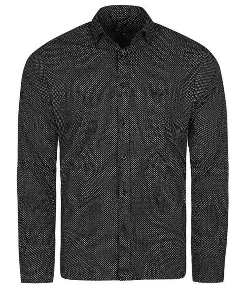 f3c1461a1090e HUGO BOSS ekskluzywna koszula męska HB42 czarna | Koszule \ casual ...