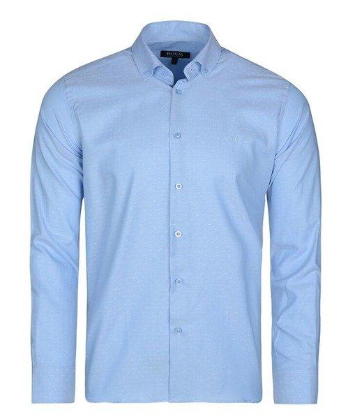 23e0535a376b8 HUGO BOSS ekskluzywna koszula męska HB42niebieska | EKSTRA SALE ...