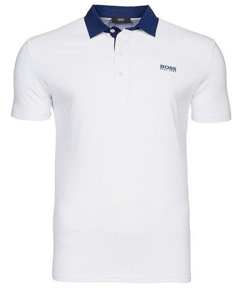 36159504c02c7 HUGO BOSS koszulka polo kołnierz PO51 biała | Koszulki Polo